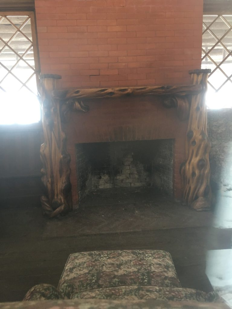 75de9850492b7 The fireplace at the one room schoolhouse in Glen Eyrie